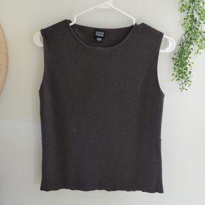 Eileen Fisher Merino Wool Sleeveless Knit Sweater
